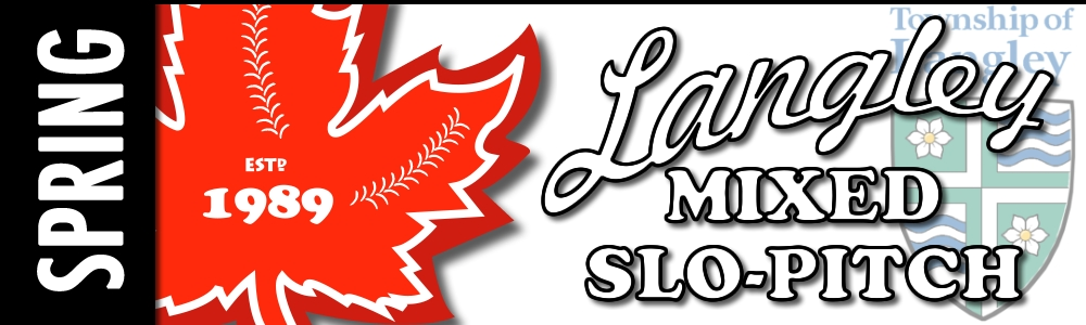 Langley Mixed Slo-pitch 2020 League Banner